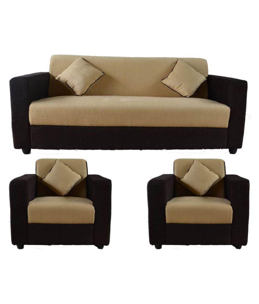 Sofa Sets Online: Westido Fabric 3+1+1 Sofa Set
