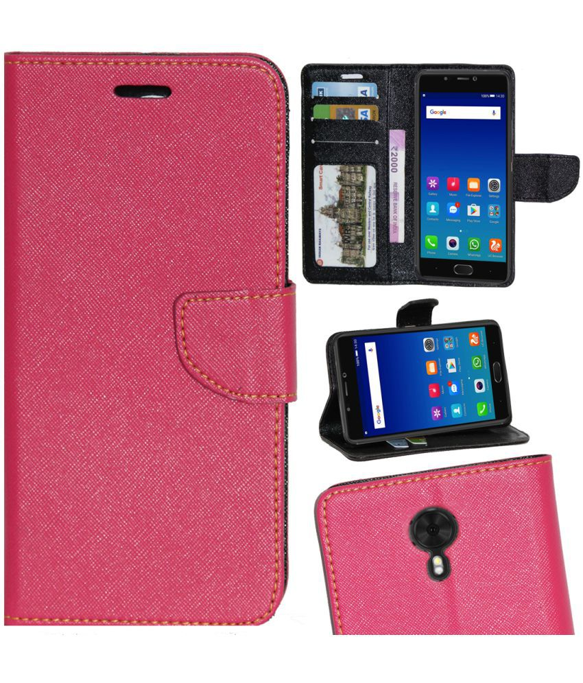 wholesale dealer 1189f 70fcc Gionee A1 Flip Cover by Gizmofreaks - Pink