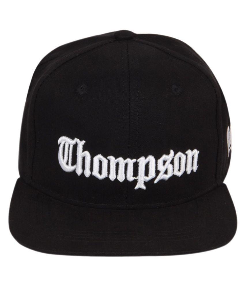 ILU Black Embroidered Cotton Caps