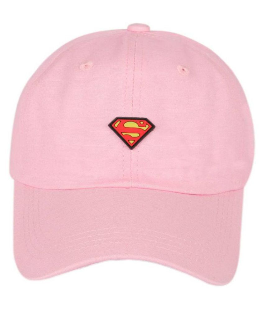 ILU Pink Embroidered Cotton Caps