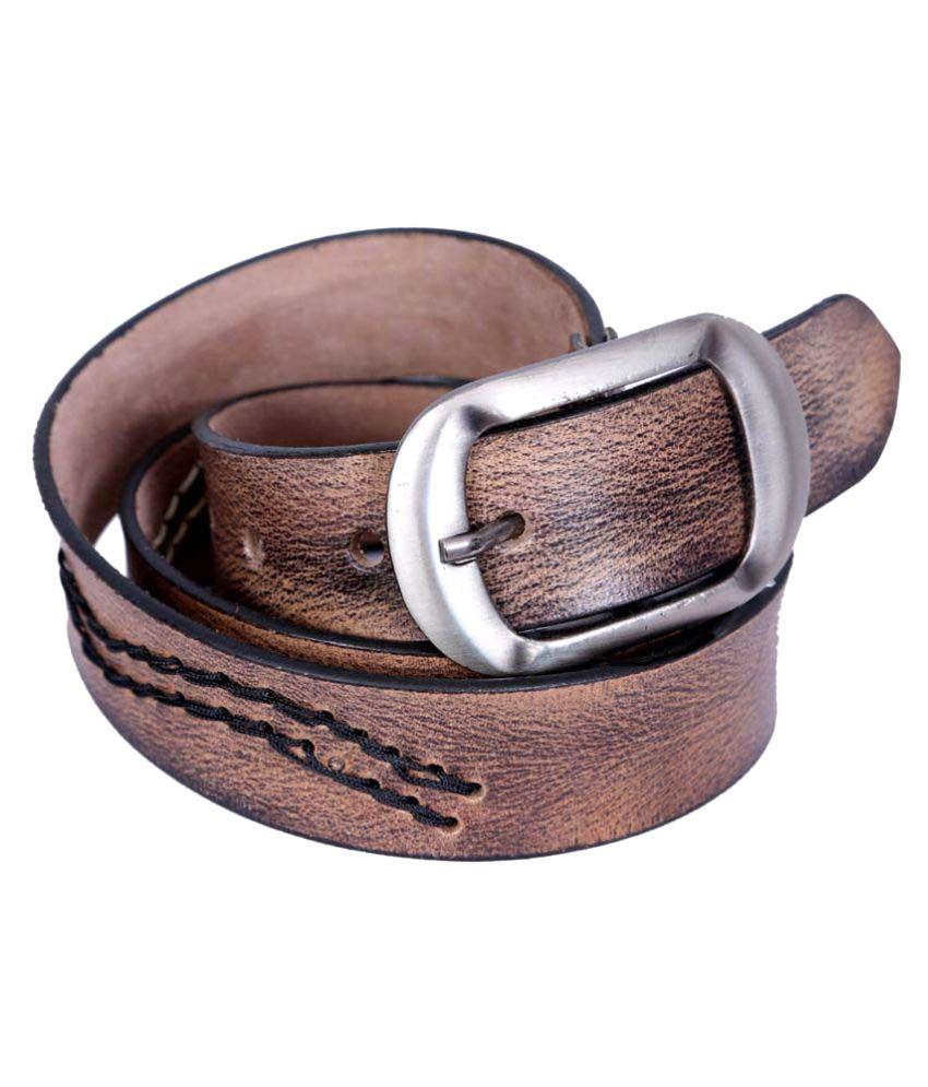 Port Brown Leather Formal Belts