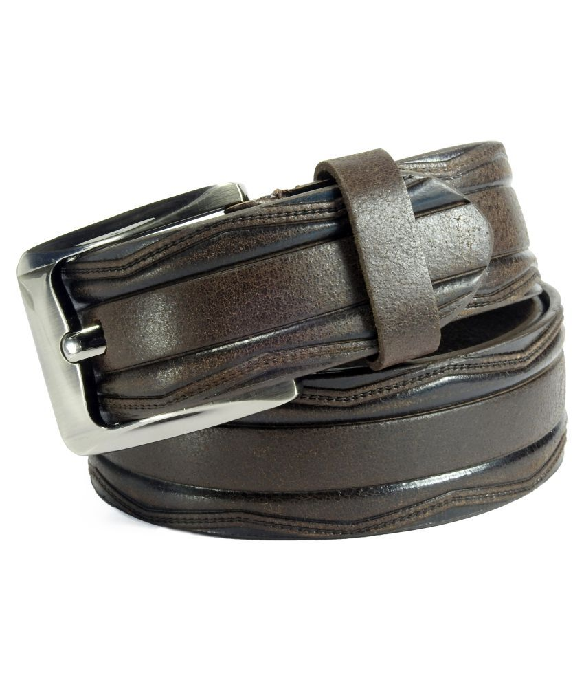 Vogard Brown Leather Casual Belts
