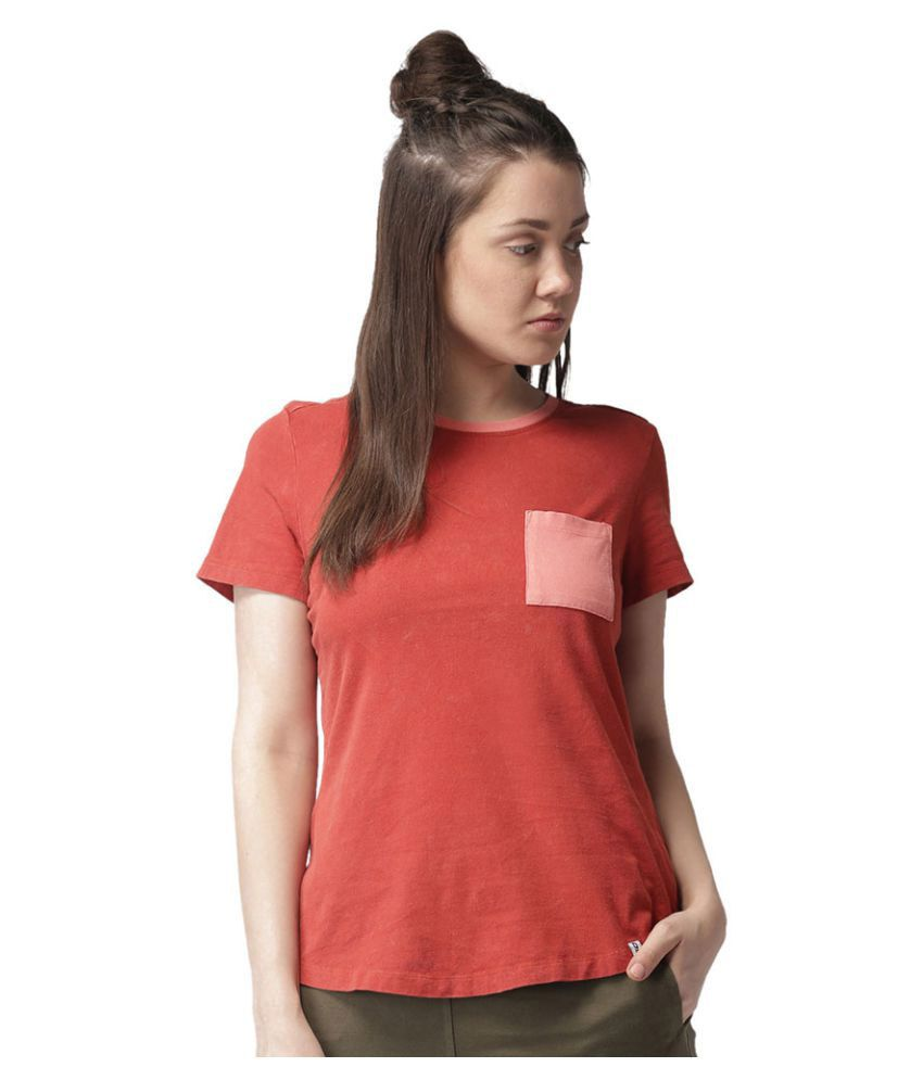 2GO Burnt Orange Casual T-shirt