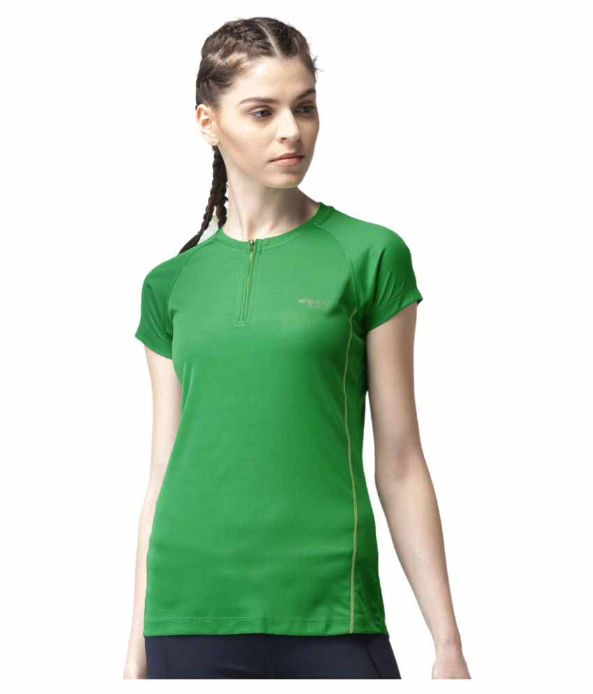 2GO Track Green Round neck Half sleeves T-shirt