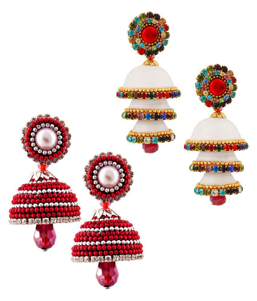 Creative Studio  Two Paper Quilling Multicolor Jhumki Set
