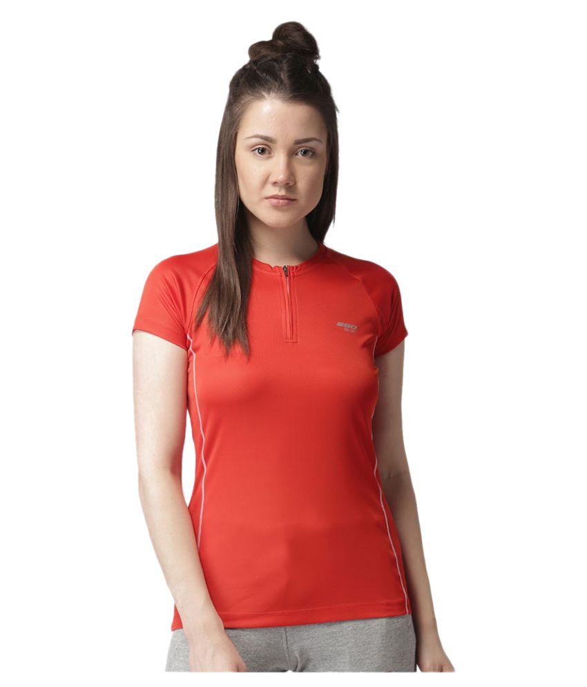 2GO Orange Round neck Half sleeves T-shirt
