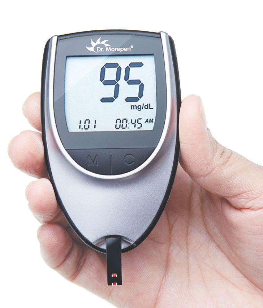 Dr Morepen Glucose Monitor BG-03- Free 25 Sugar Test ...