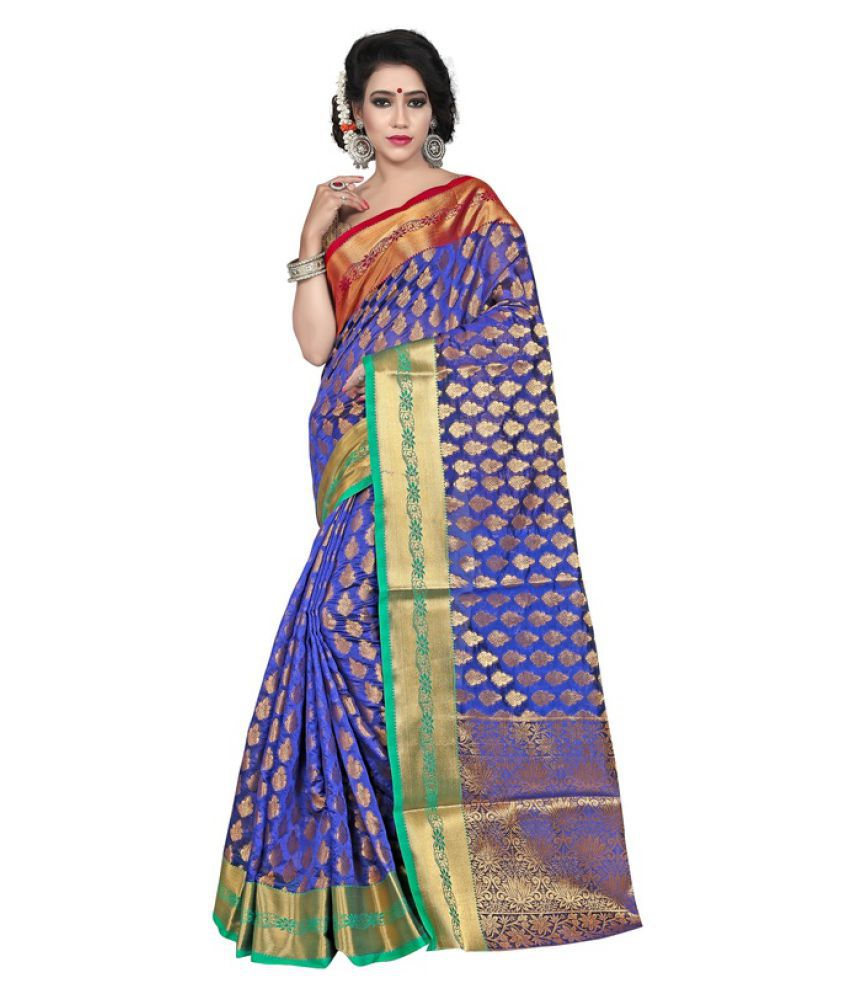 Saloni Designer Blue Banarasi Silk Saree