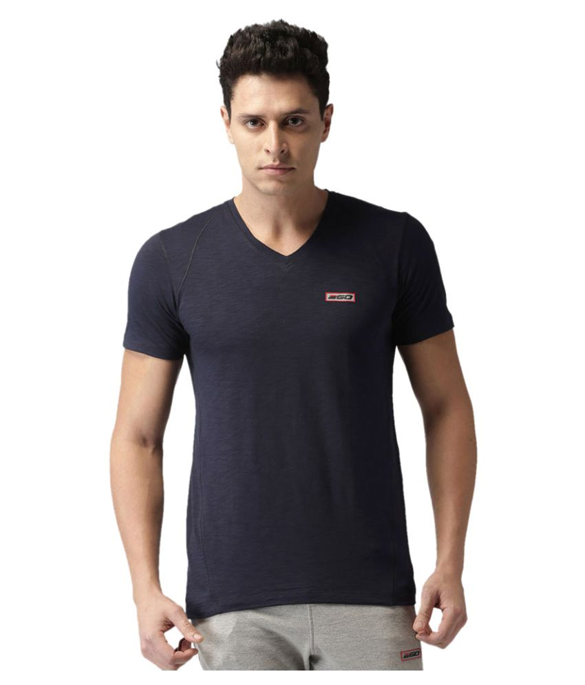 2GO Dare Navy V-neck half sleeves T-shirt