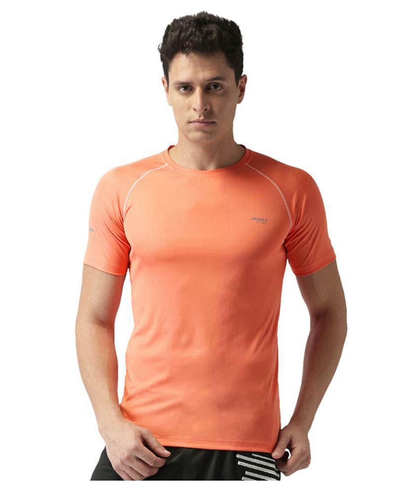 2GO Peach GO Dry Athlete half sleeves T-shirt