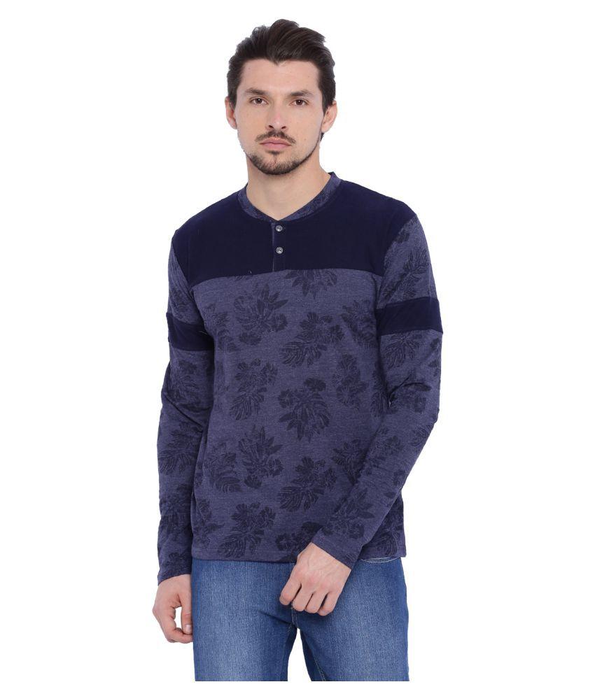 Arise By Beroe Navy Henley T-Shirt