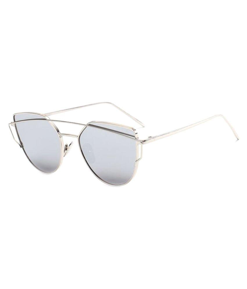 Pique Eye Wear Silver Round Sunglasses ( 0059 )