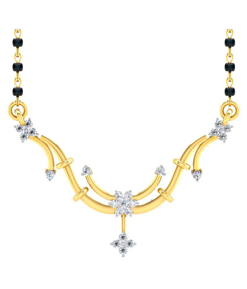 Cygnus 18k Yellow Gold Diamond Mangalsutra