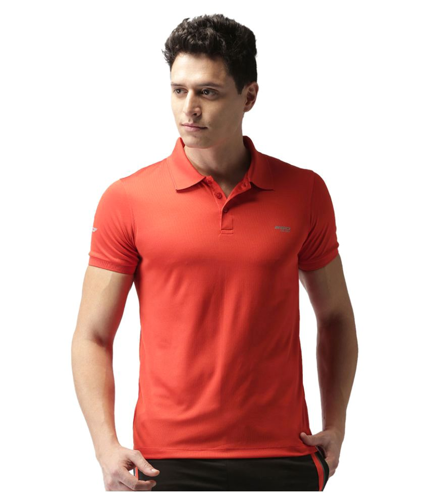 2GO Orange GO Dry Polo T-shirt