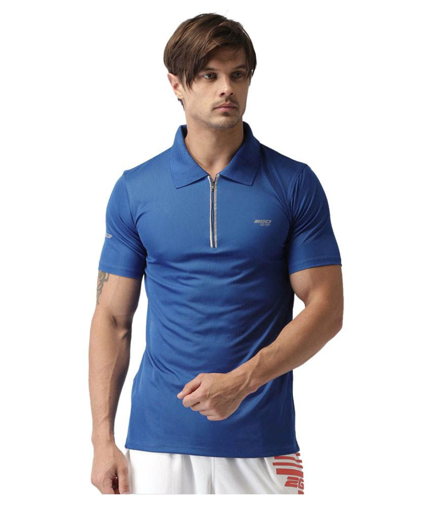 2GO Electric Blue GO Dry Polo T-Shirt