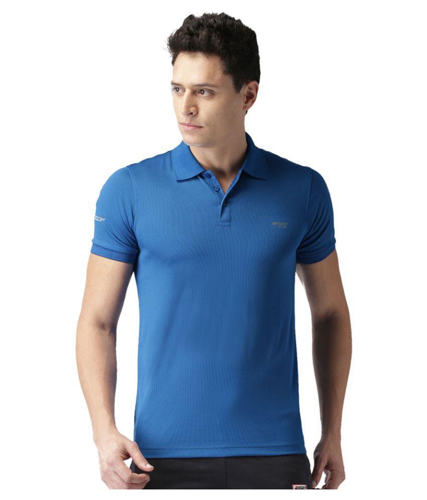 2GO Electric Blue GO Dry Polo T-shirt