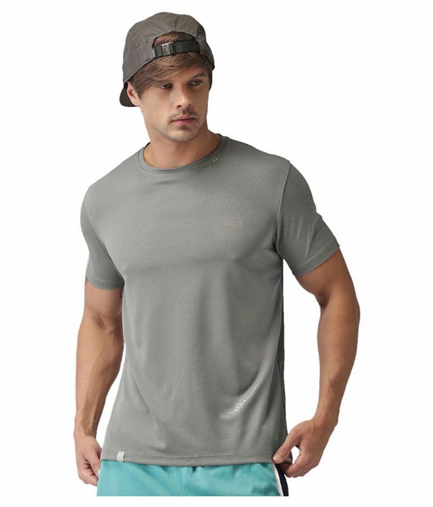 2GO Sweaty Grey GO Dry Round Neck half sleeves T-Shirt