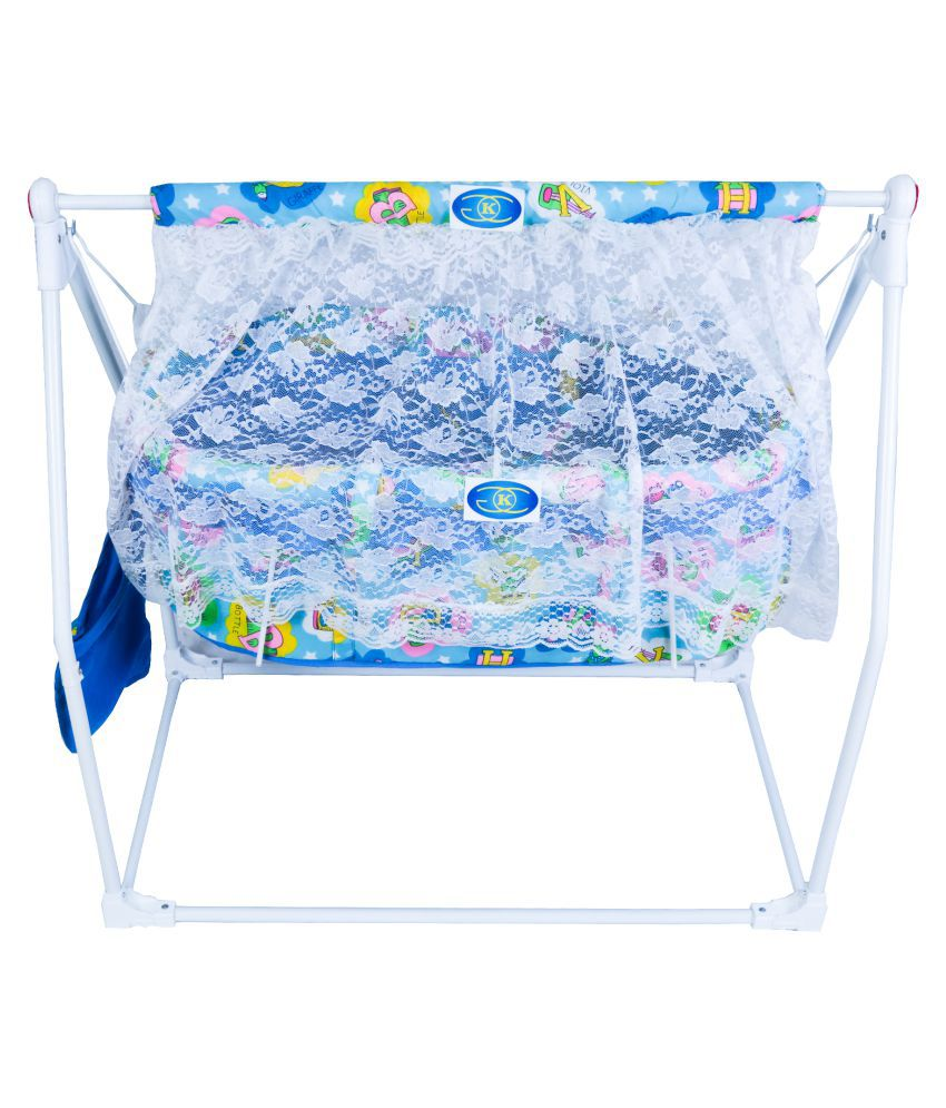 KGC Networks Kids Multifunctional Baby Best Bassinet Cradle with Mosquito Net (BJ029SKYBLUE165-165)