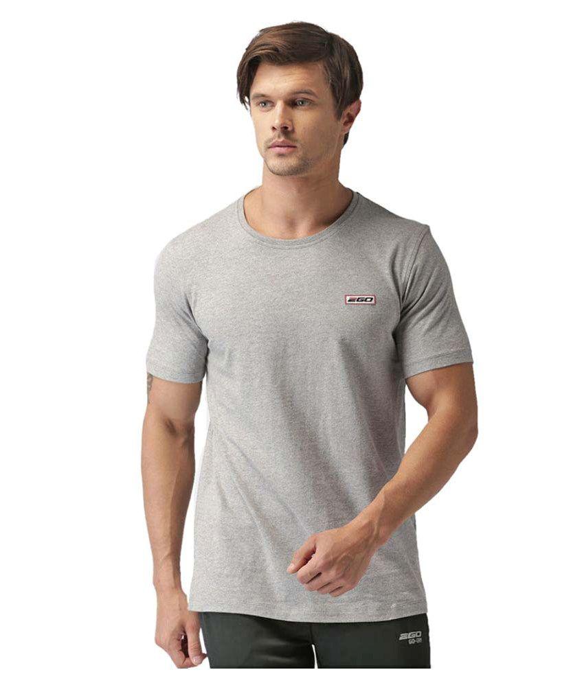 2GO Greymel Half sleeves Round Neck T-shirt