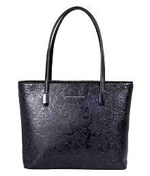 Lino Perros Black Artificial Leather Tote Bag
