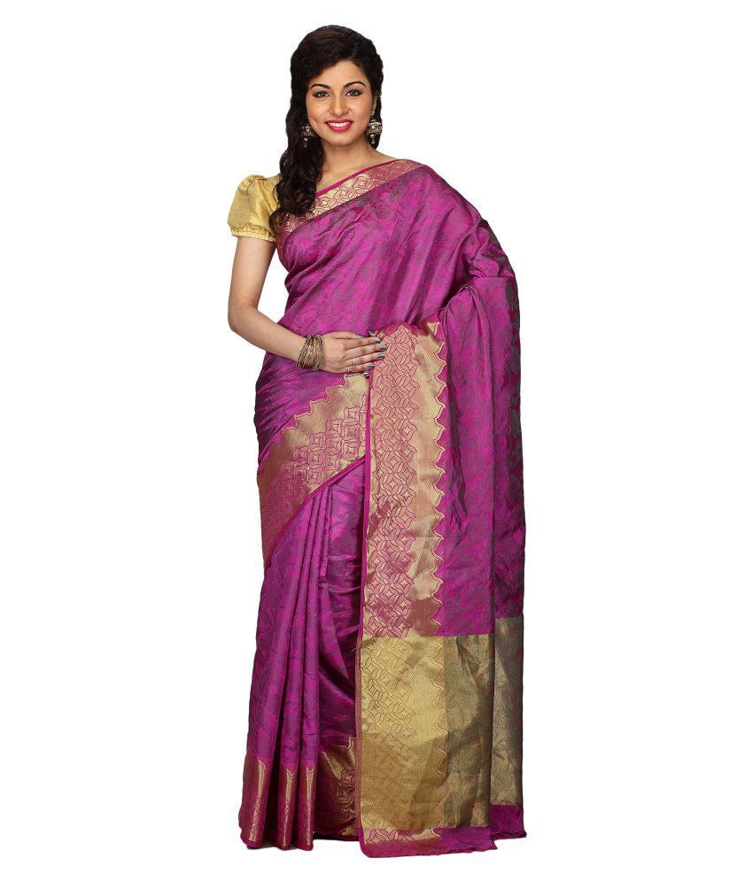 Radcart Pink Art Silk Saree