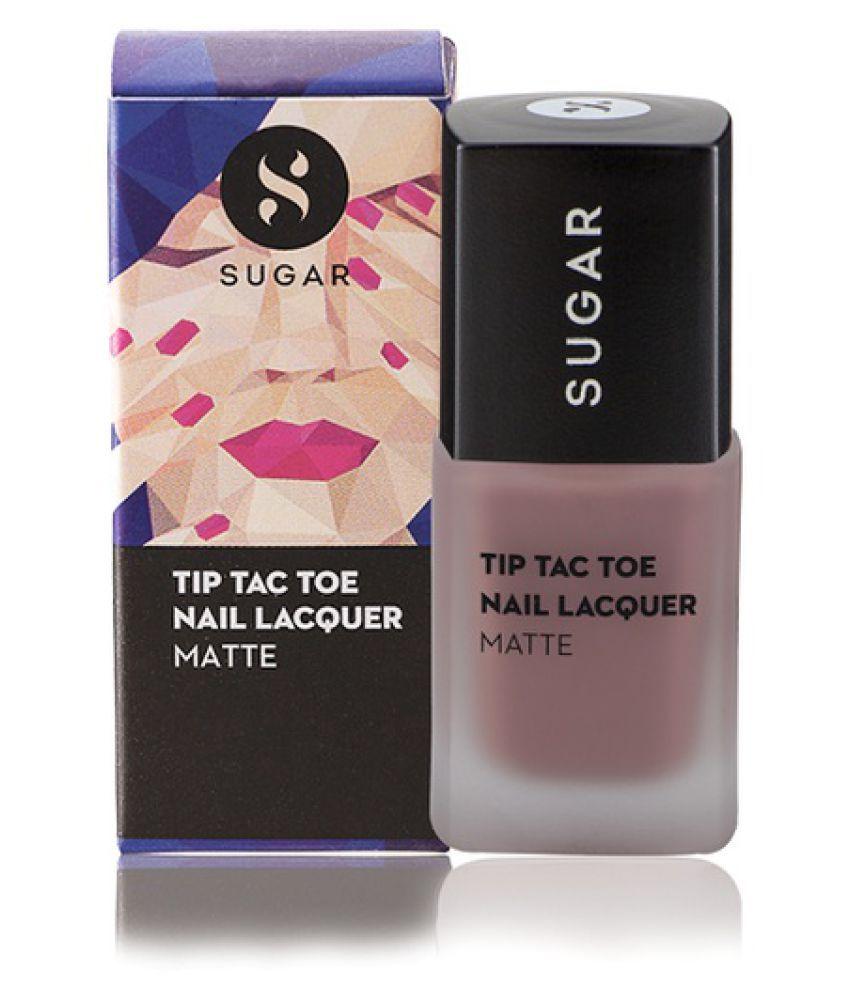 Sugar Cosmetics Tip Tac Toe Nail Polish - 007 Carpe Crème (Matte Nude Pink) Matte 10 gm