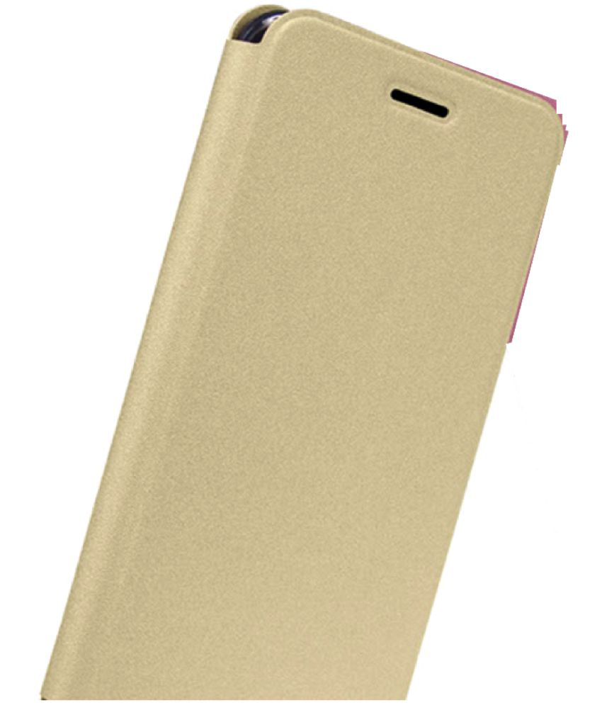 Vivo V3 Flip Cover by Champion - Golden