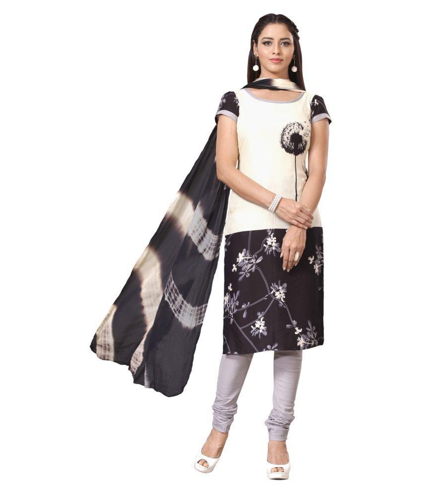 Swanvi Multicoloured Cotton Dress Material