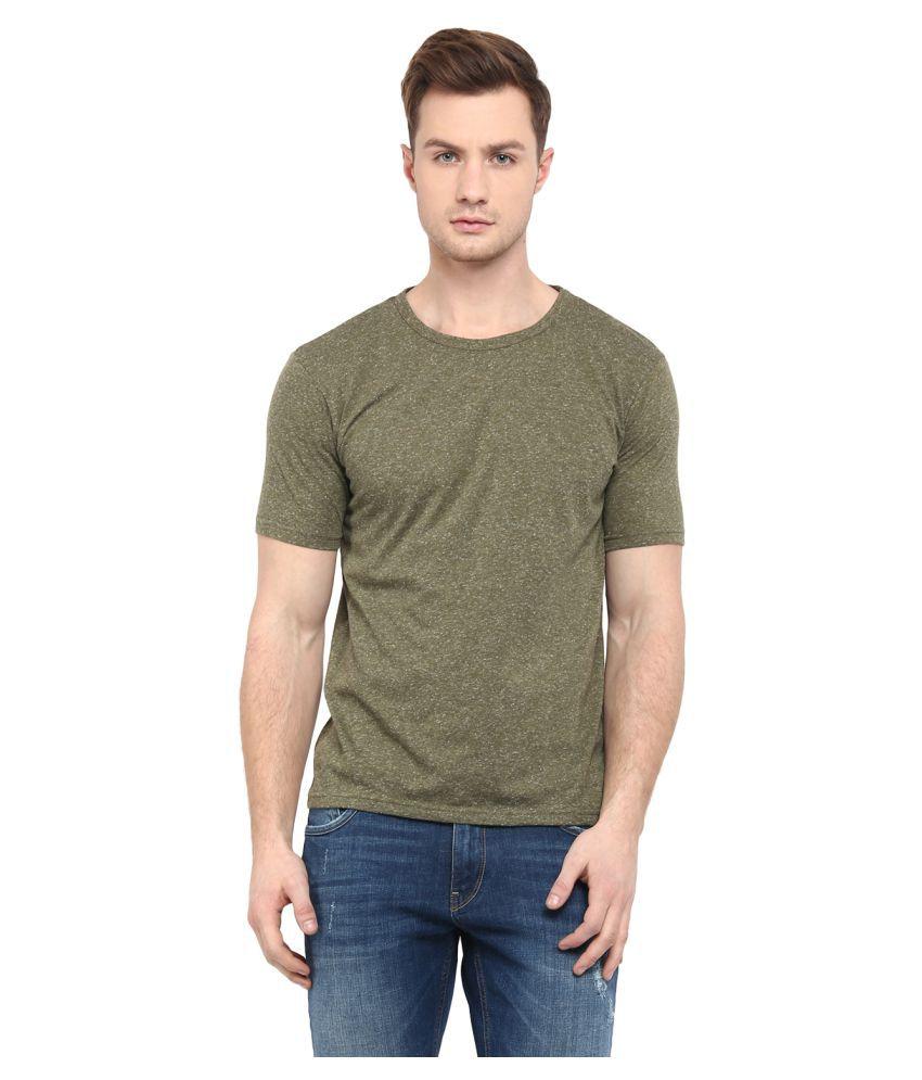 Upbeat Green Round T-Shirt