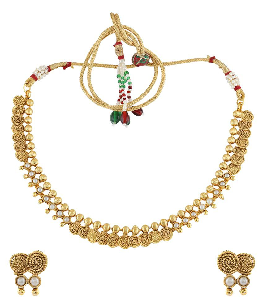 Anuradha Art Golden Finish Coin Styled Wonderful Traditional Long Necklace Set For Women/Girls