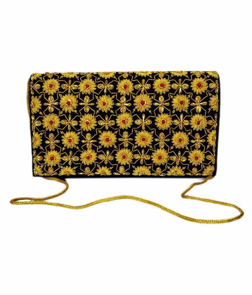 Duchess Black Fabric Crossbody