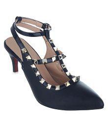Sherrif Shoes Black Kitten Heels