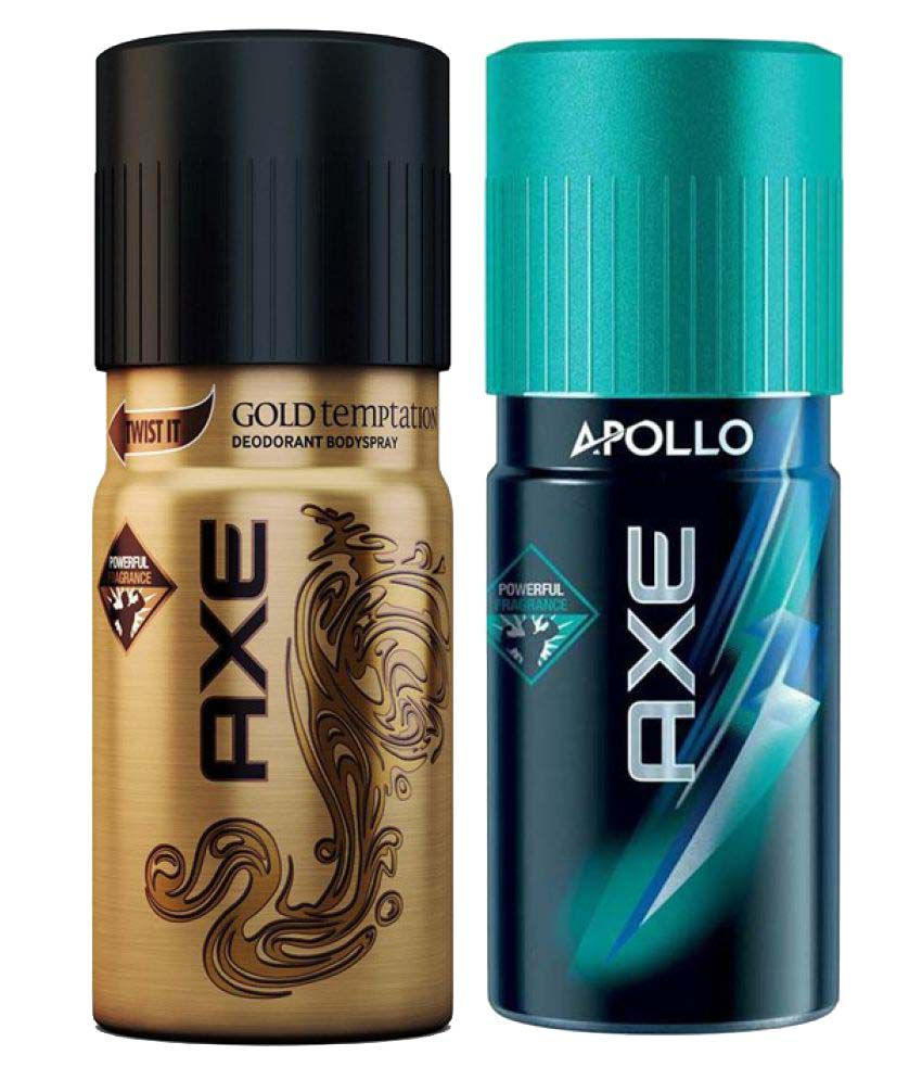 Axe Deodorant (Gold temptation, Apollo) pack of 2