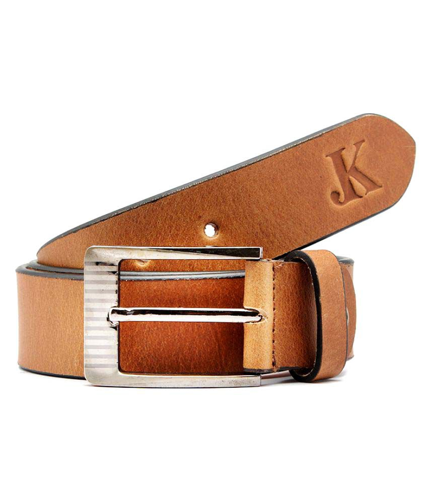 Junckers Brown Leather Casual Belts