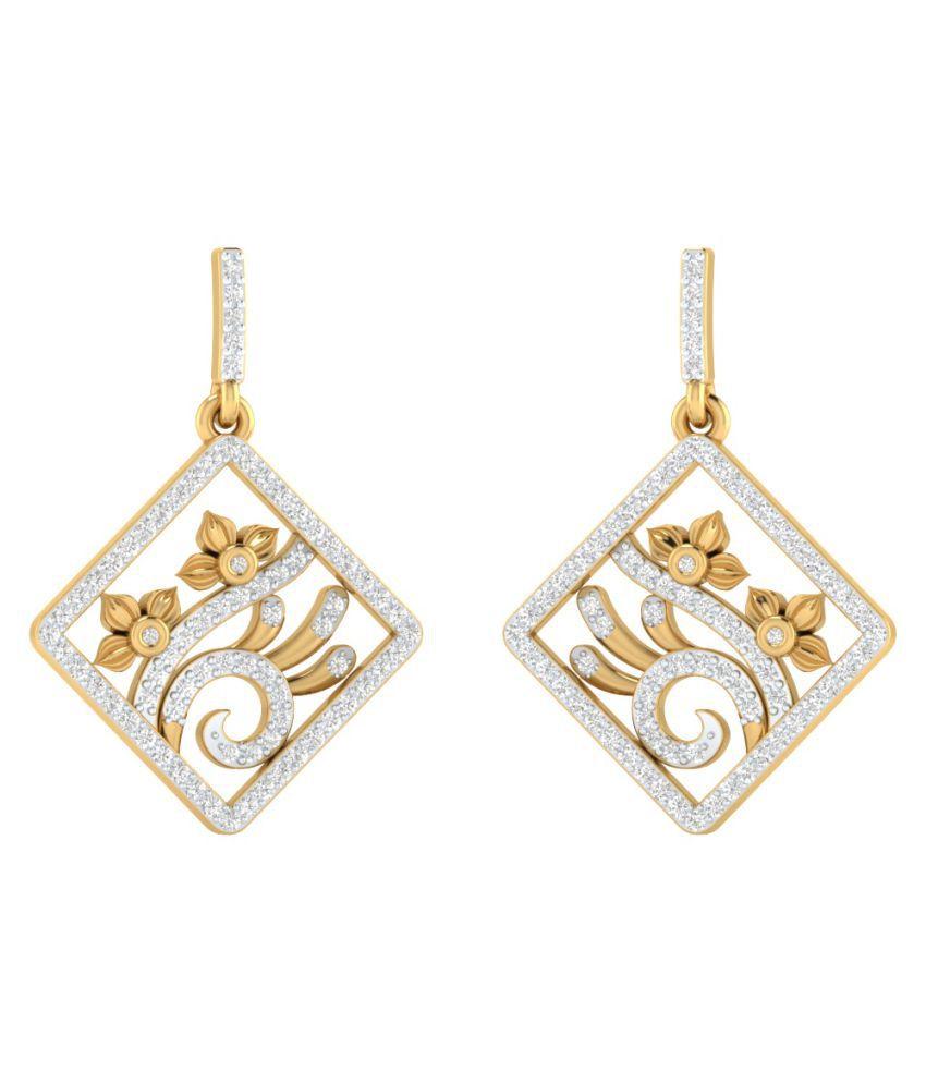 Sri Jagdamba Pearls 18k Gold Diamond Hangings