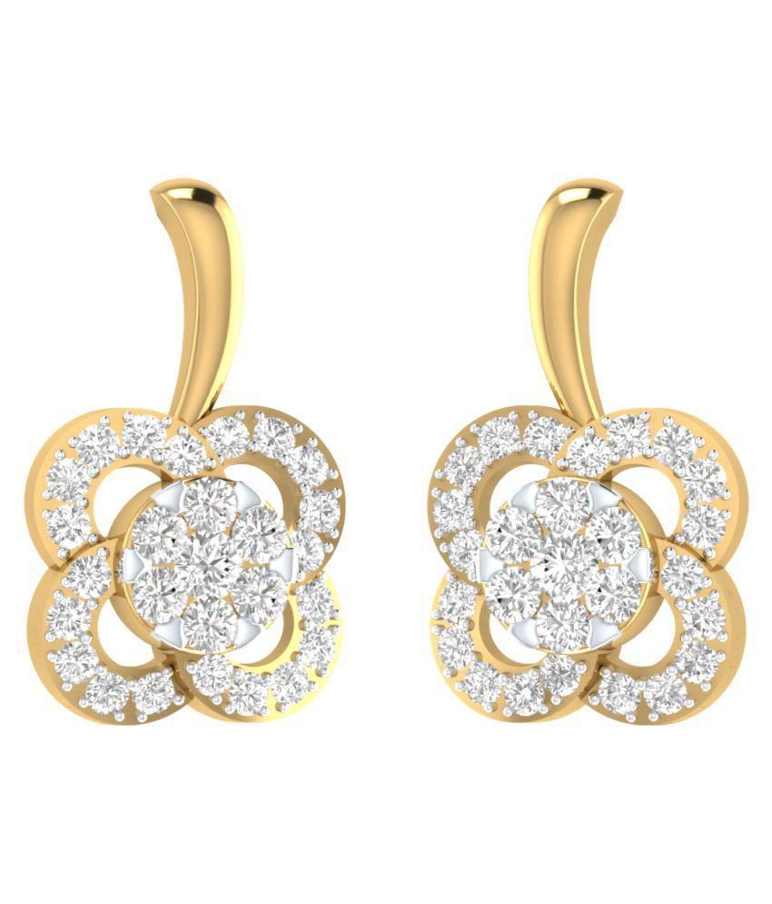 Sri Jagdamba Pearls 18k Gold Diamond Drop Earrings