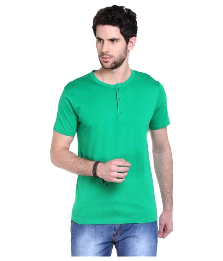 Fast n Fashion Green Henley T-Shirt