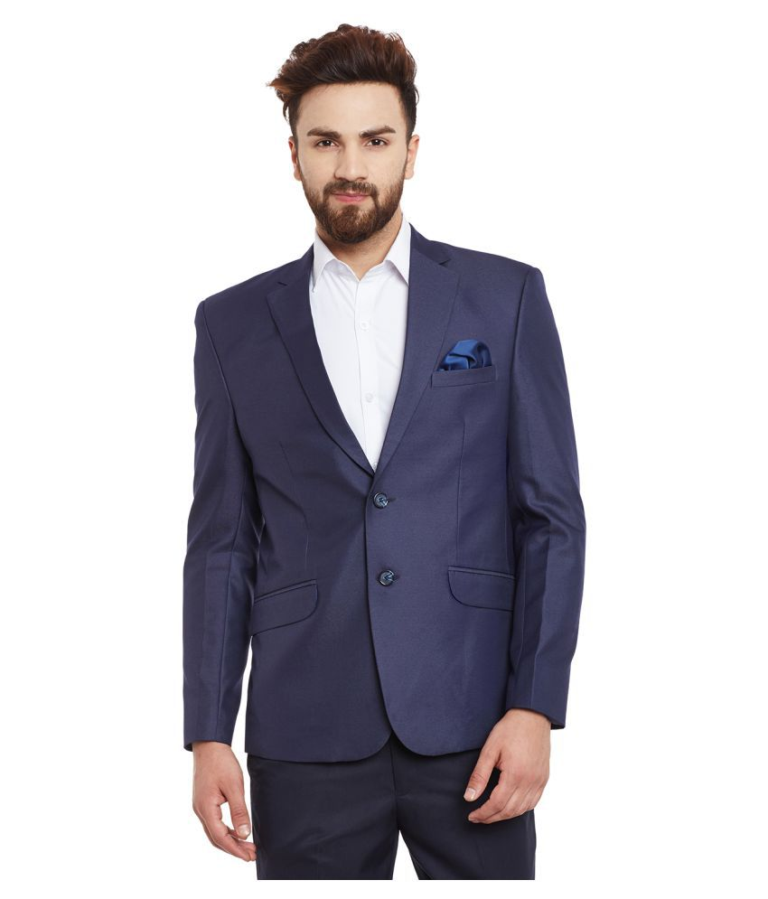 Canary London Navy Solid festive Blazers