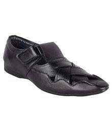 Aadi Black Sandals