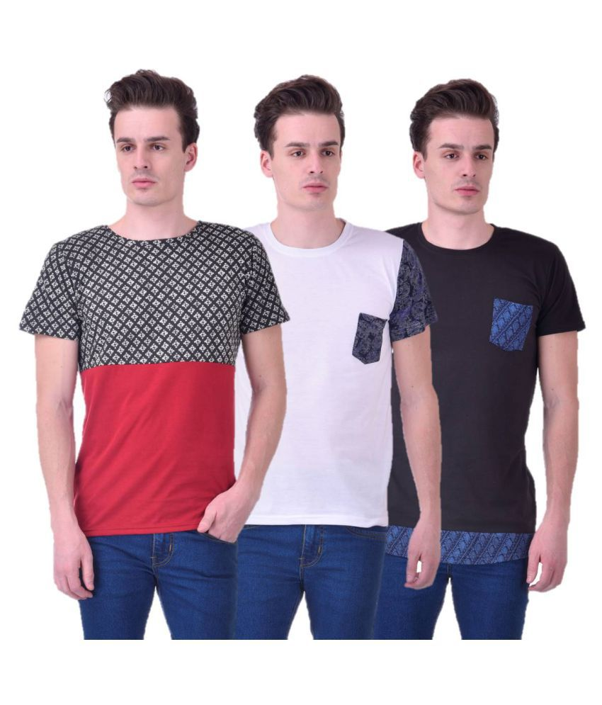 Chakkor Multi Round T-Shirt Pack of 3