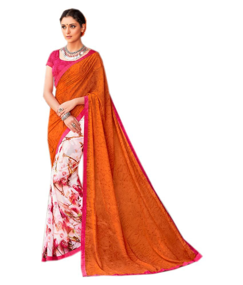 KAD Creations Multicoloured Georgette Saree