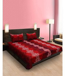 Cocofoam Double Poly Cotton Multicolor Bed Sheet