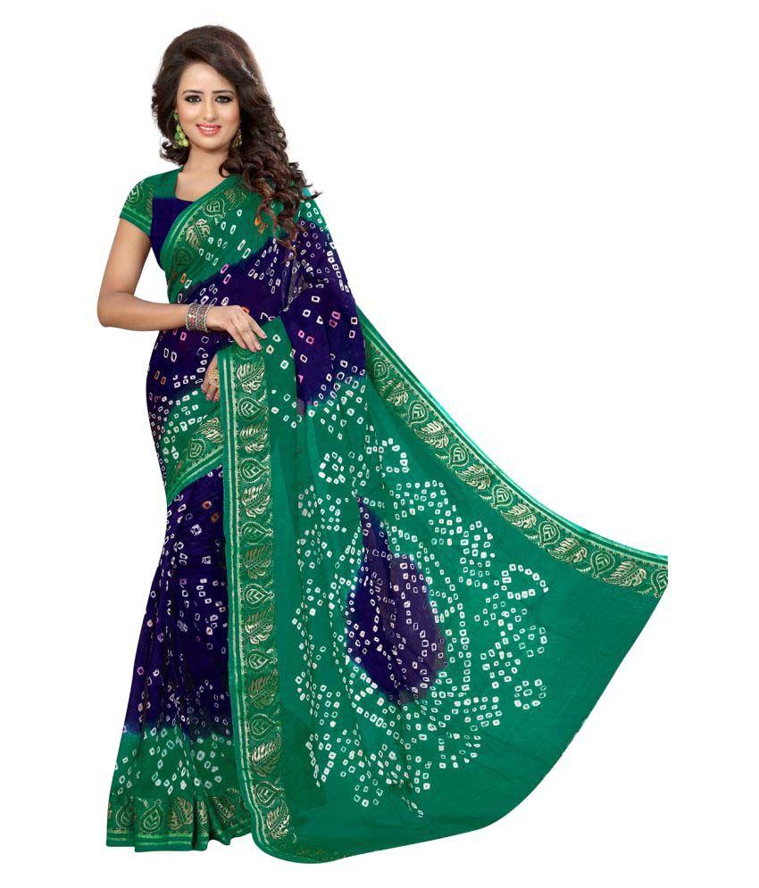 Divine International Trading Co. Multicoloured Art Silk Saree