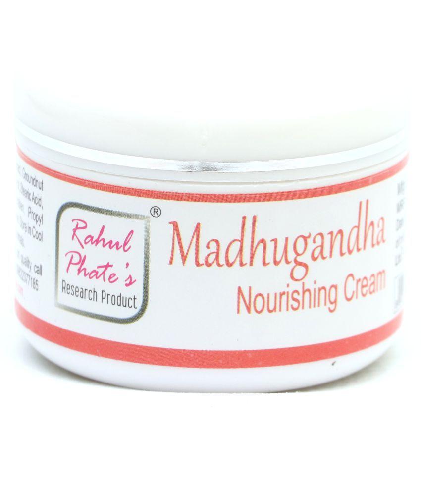 Rahul Phates Innovations Madhugandha Almond saffron Skin Nourishing Cream Moisturizer 50 gm