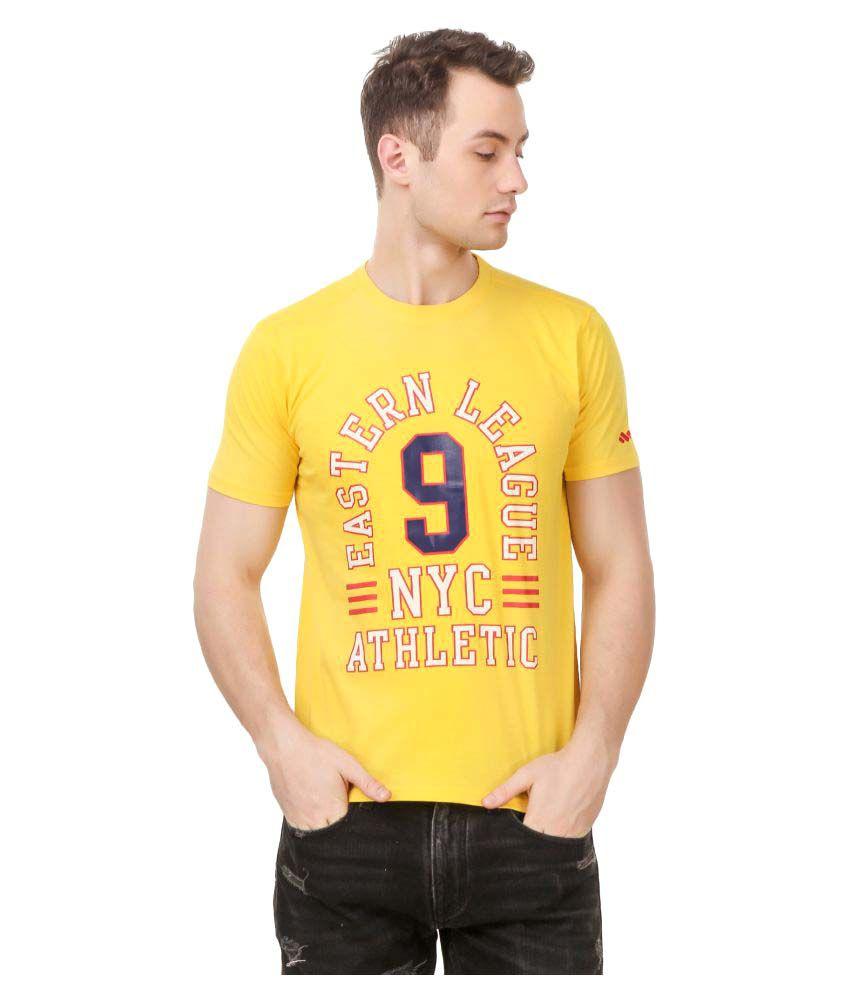 Spunk Yellow Round T-Shirt