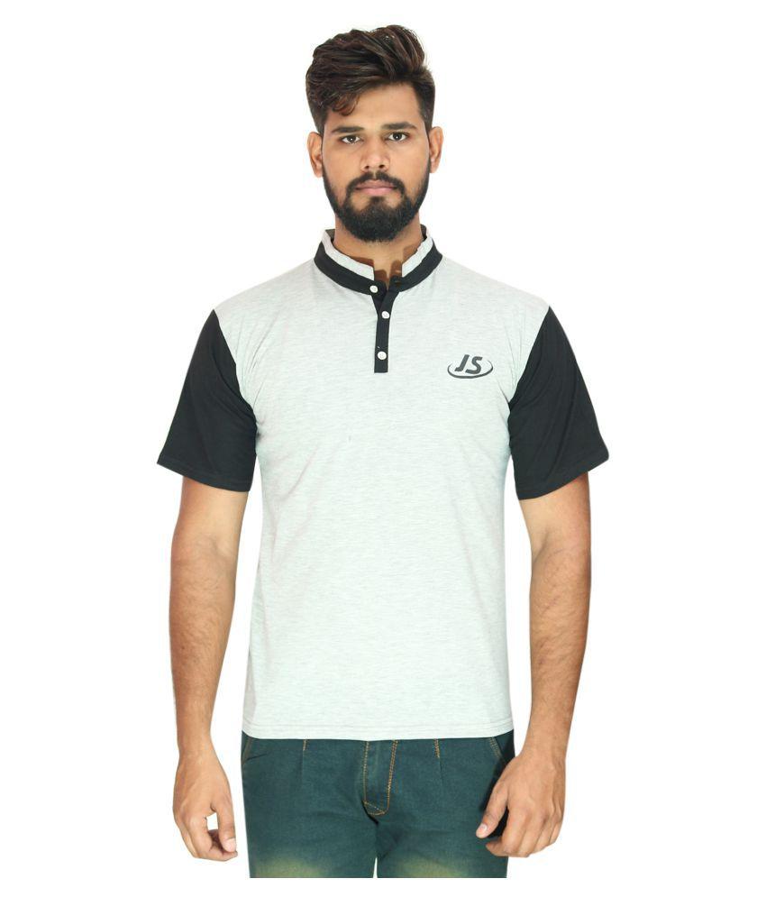 JS Grey Henley T-Shirt