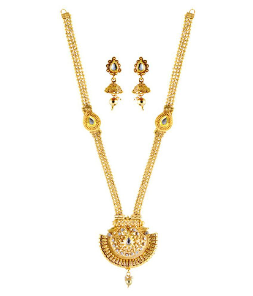 Necklace Set Studded with Kundan and AD For Women