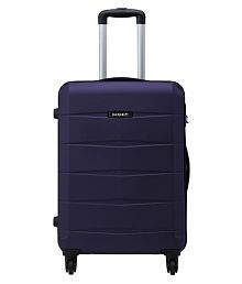 Safari Re-Gloss Anti Scratch Purple Medium 4 Wheel Hard Luggage Trolley