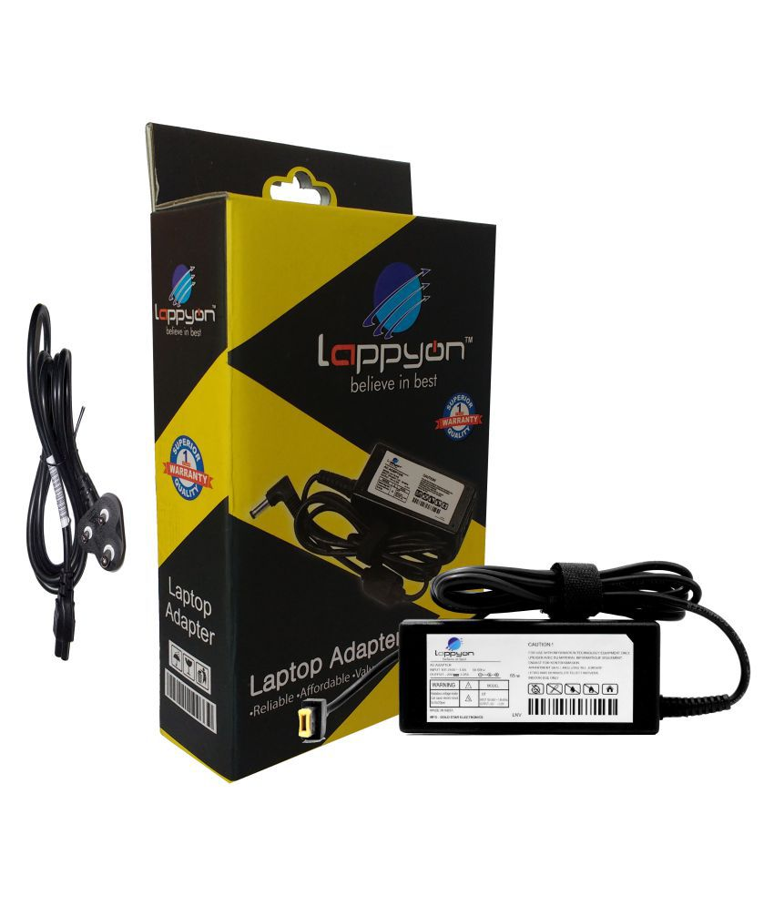 LappyOn Laptop adapter compatible For Lenovo Lenovo IdeaPad G Series Light Weight,Value For Money