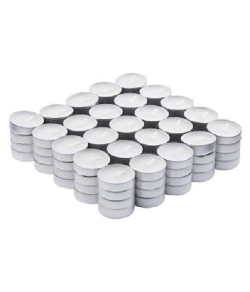 Oasis White Wax Tea Light - Pack of 50